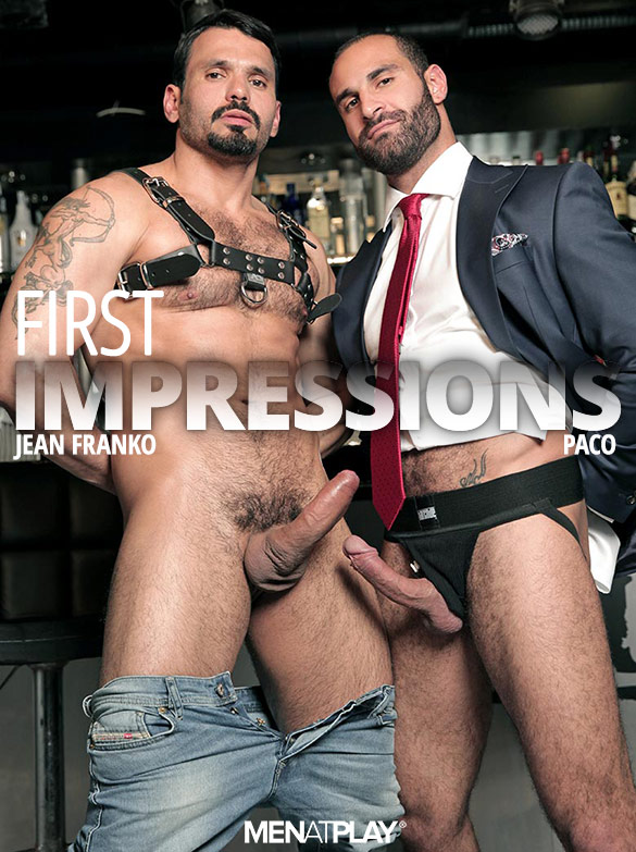 """MenAtPlay: Jean Franko pounds Paco in """"First Impressions"""""""