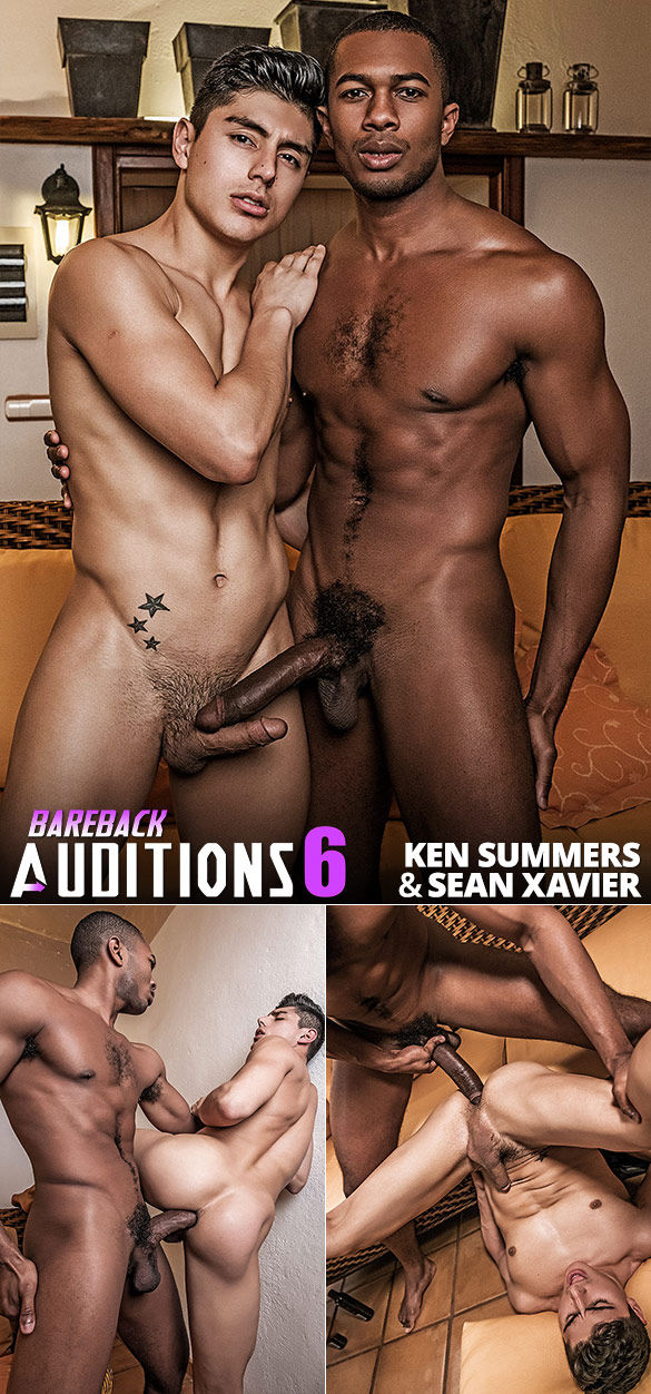 "Lucas Entertainment: Sean Xavier jackhammers Ken Summers in ""Bareback Auditions 06"""