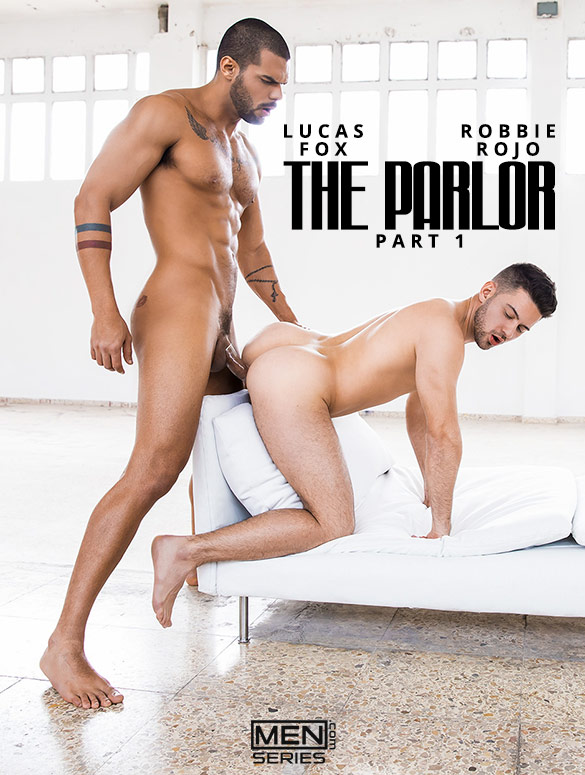 "Men.com: Lucas Fox fucks Robbie Rojo in ""The Parlor, Part 1"""