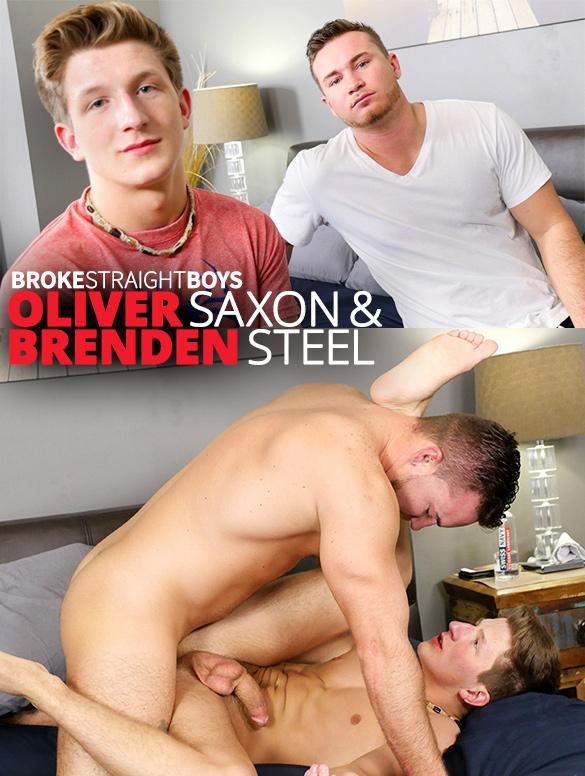 Broke Straight Boys: Brenden Steel bangs Oliver Saxon raw