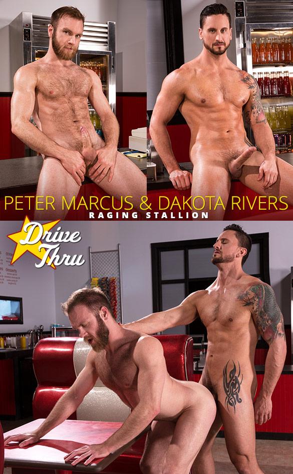 """Raging Stallion: Dakota Rivers bangs Peter Marcus in """"Drive Thru"""""""