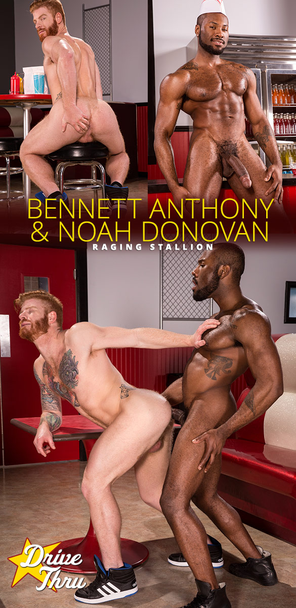 """Raging Stallion: Bennett Anthony gets fucked by Noah Donovan and his 9.5-inch dick in """"Drive Thru"""""""