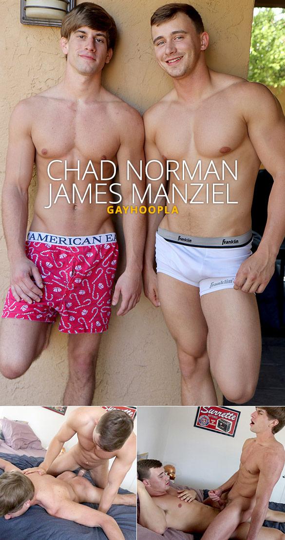 GayHoopla: Chad Norman cums twice taking James Manziel's cock