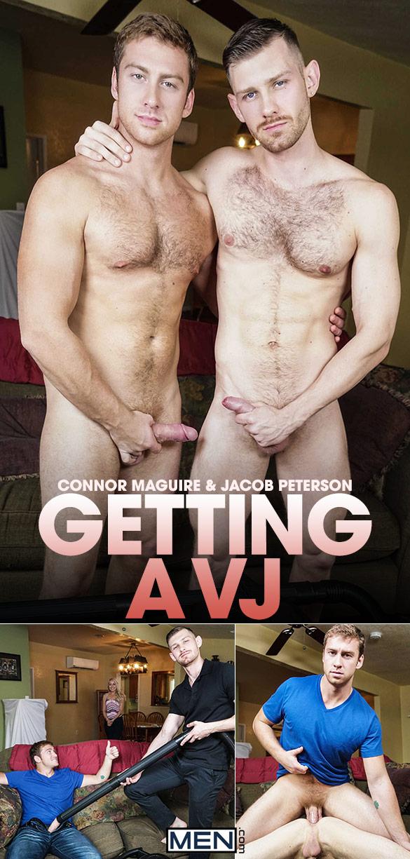 """Men.com: Connor Maguire fucks Jacob Peterson in """"Getting a VJ"""""""