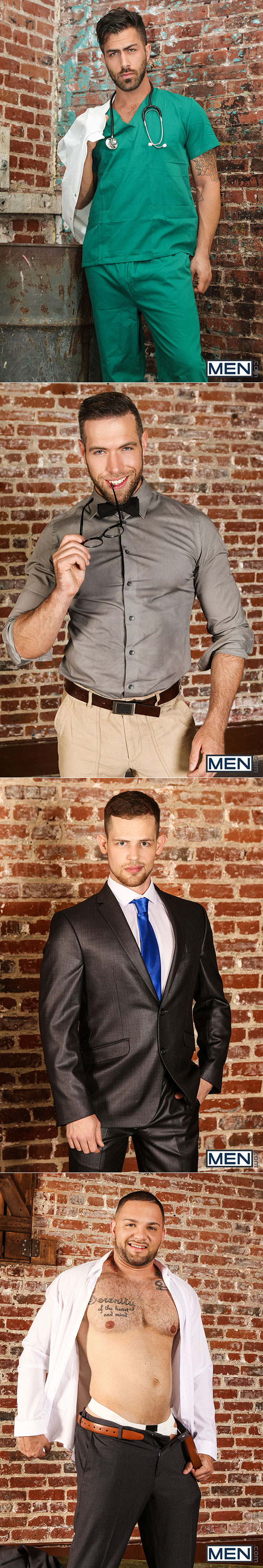 "Men.com: Adam Ramzi and Kurtis Wolfe fuck Alex Mecum and Julian Knowles in ""Dangerous Days, Part 3"""