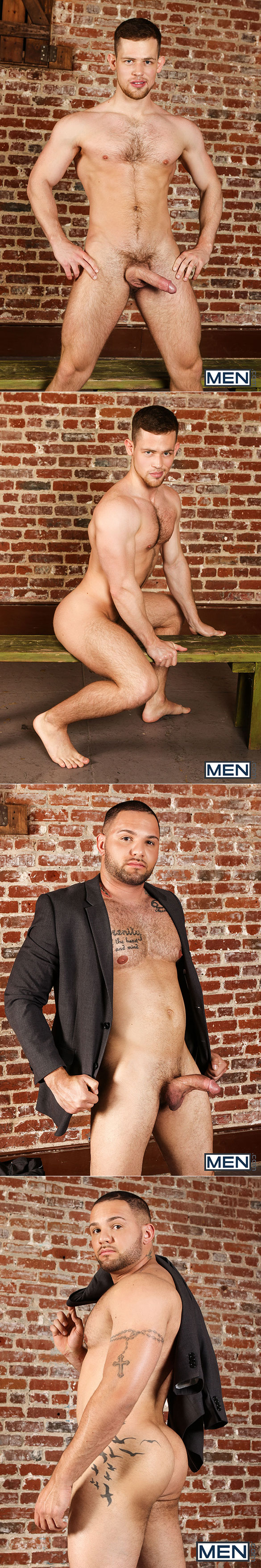 "Men.com: Adam Ramzi and Kurtis Wolfe fuck Alex Mecum and Julian Knowles in ""Dangerous Days, Part 3"""