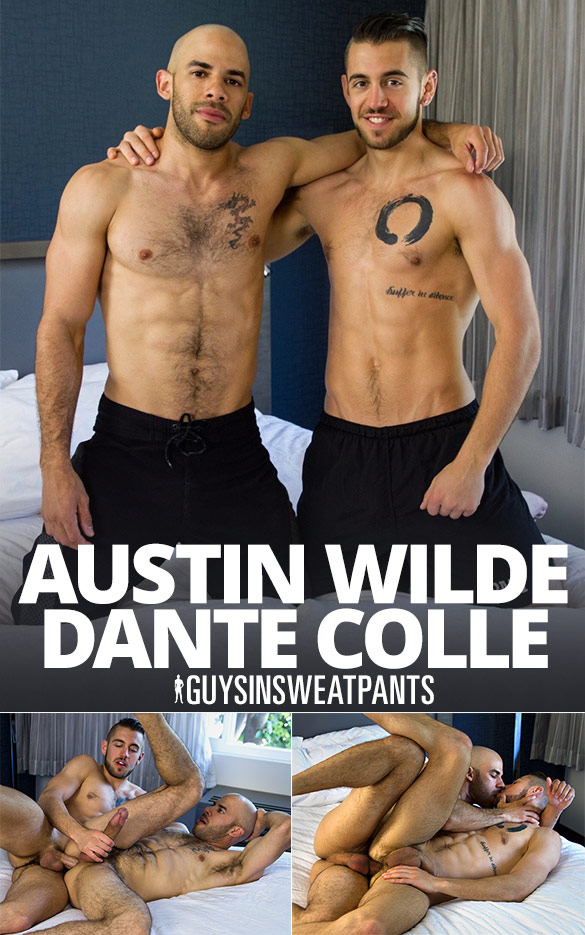 GuysInSweatpants: Austin Wilde and Dante Colle flip fuck bareback