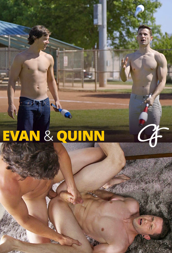 Corbin Fisher: Evan pounds Quinn bareback