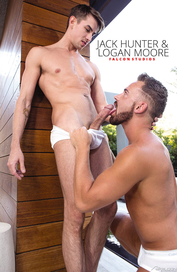 "Falcon Studios: Logan Moore and Jack Hunter blow each other in ""Intimate"""