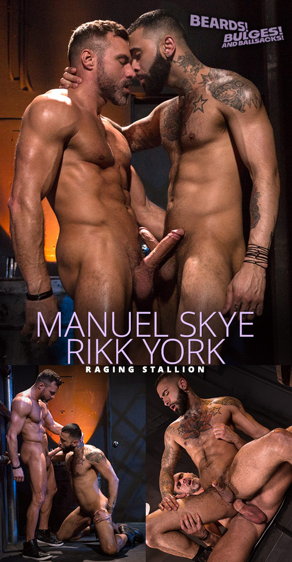 "Raging Stallion: Manuel Skye slams Rikk York in ""Beards, Bulges & Ballsacks!"""