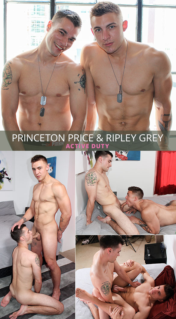 ActiveDuty: Princeton Price barebacks Ripley Grey