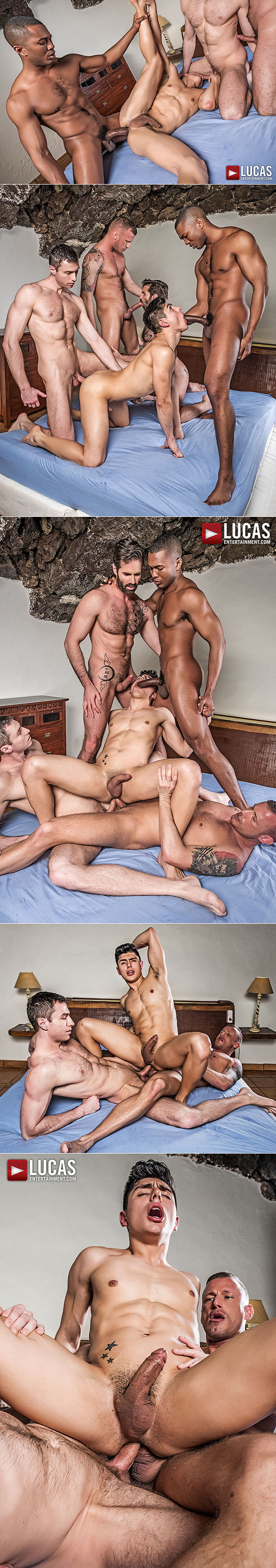 "Lucas Entertainment: Ken Summers, Dani Robles, Logan Rogue, Ralph Novak and Sean Xavier in ""Raw Double Penetrations 5"""