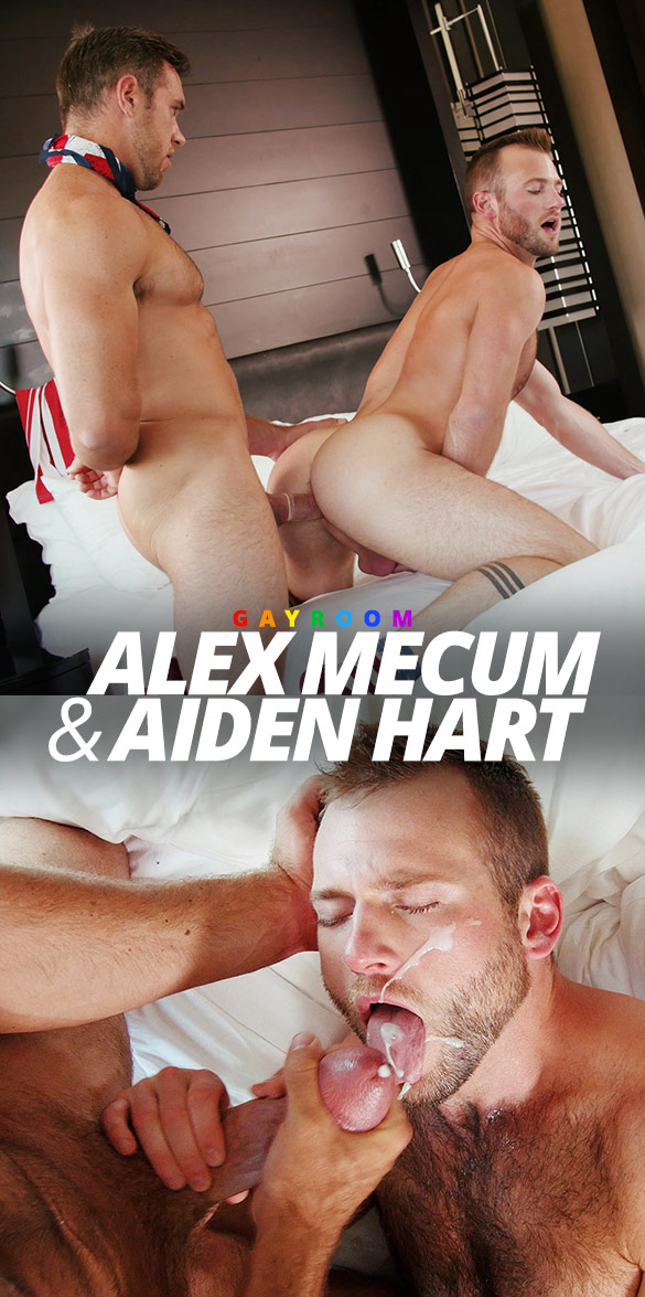 "GayRoom: Aiden Hart takes Alex Mecum's big cock in ""Freedom Fuckers"""