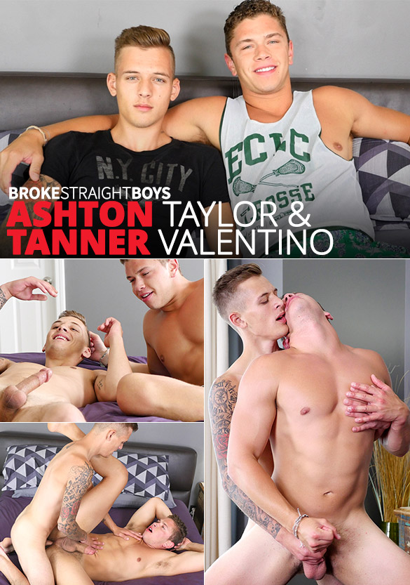 Broke Straight Boys: Newbie Ashton Taylor barebacks Tanner Valentino