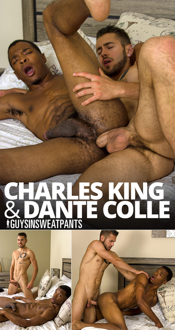 GuysInSweatpants: Charles King takes Dante Colle's loads