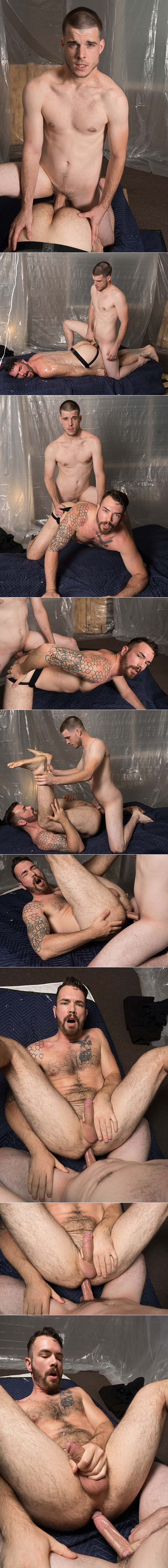 "Bromo: Noah Jones pounds Devin Vex bareback in ""The Fuck Room, Part 1"""