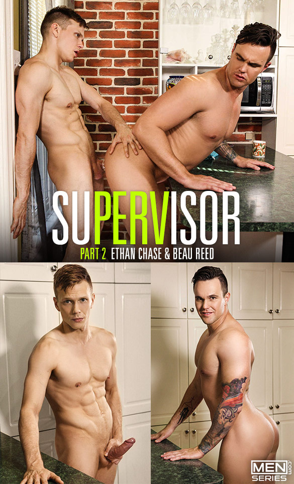 "Men.com: Ethan Chase fucks Beau Reed in ""SuPERVisor, Part 2"""