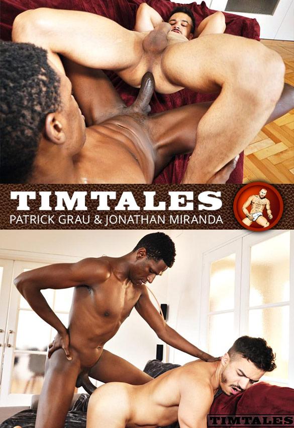 TimTales: Jonathan Miranda rides Patrick Grau's big dick bareback
