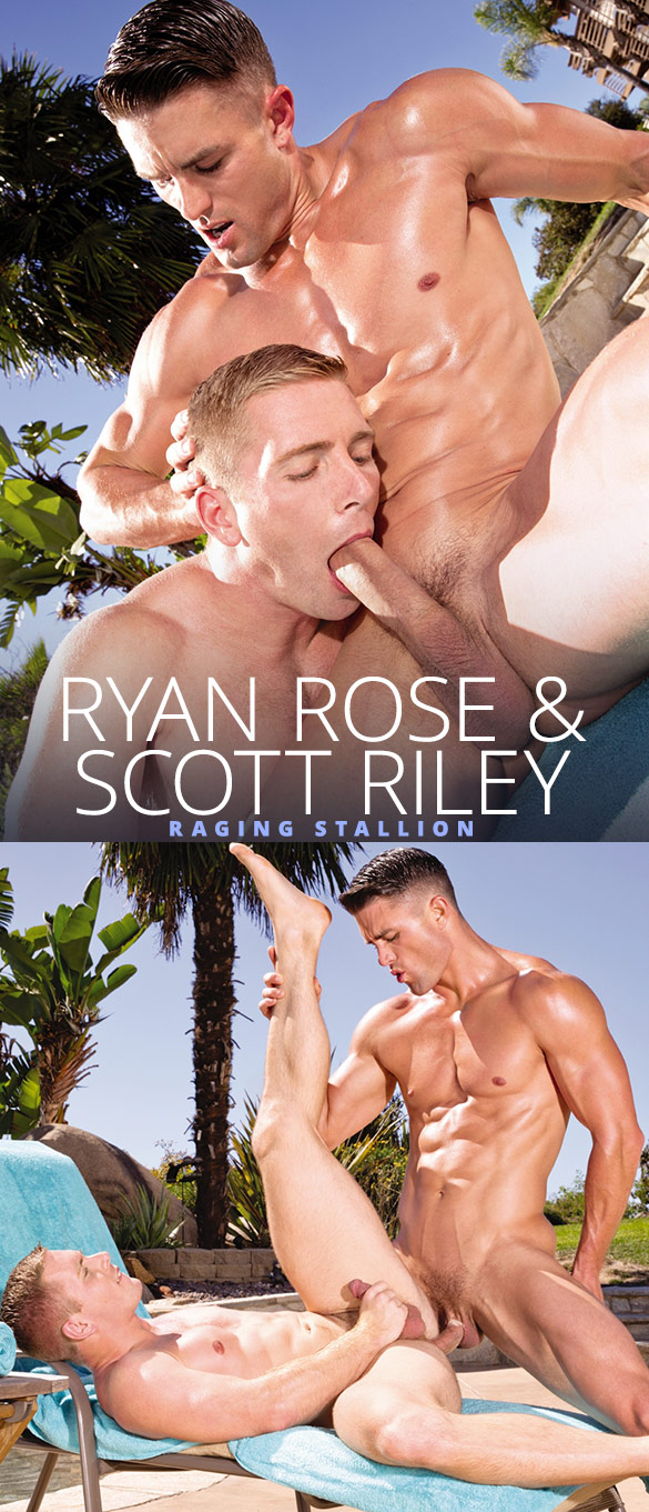 Raging Stallion: Scott Riley gets pounded by Ryan Rose