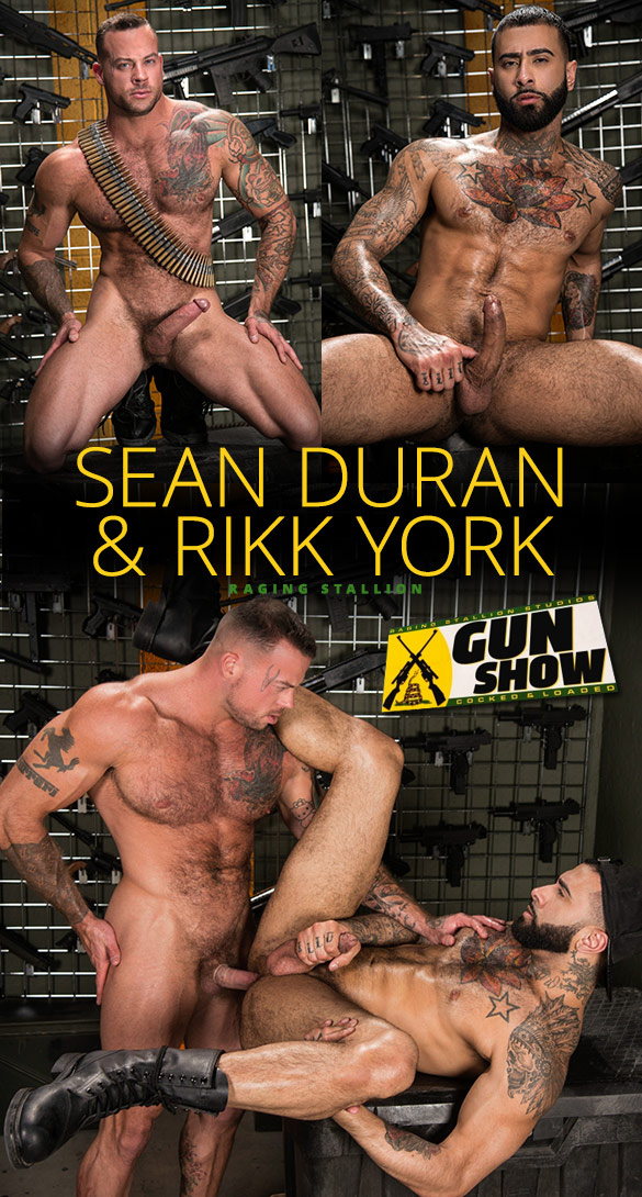 "Raging Stallion: Sean Duran pounds Rikk York in ""Gun Show"""