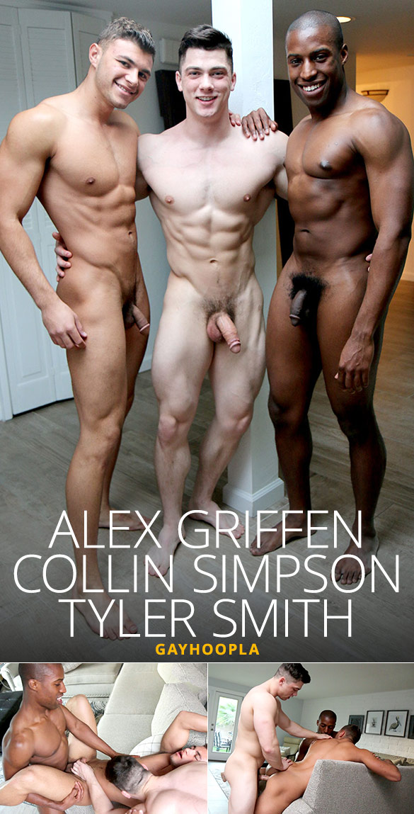 GayHoopla: Collin Simpson and Tyler Smith fuck Alex Griffen