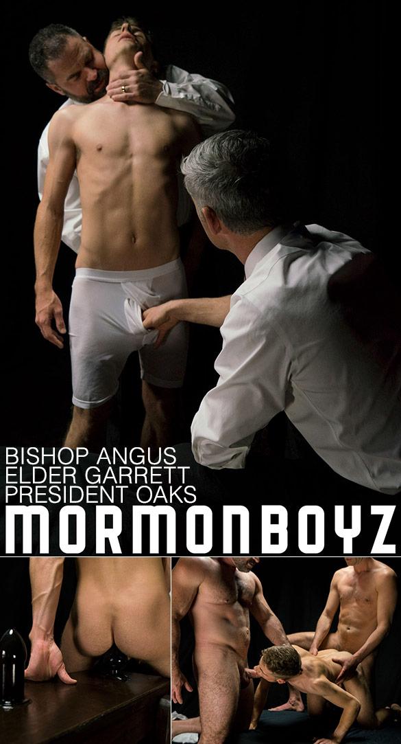 "MormonBoyz: Bishop Angus and President Oaks fuck Elder Garrett bareback in ""Atonement"""