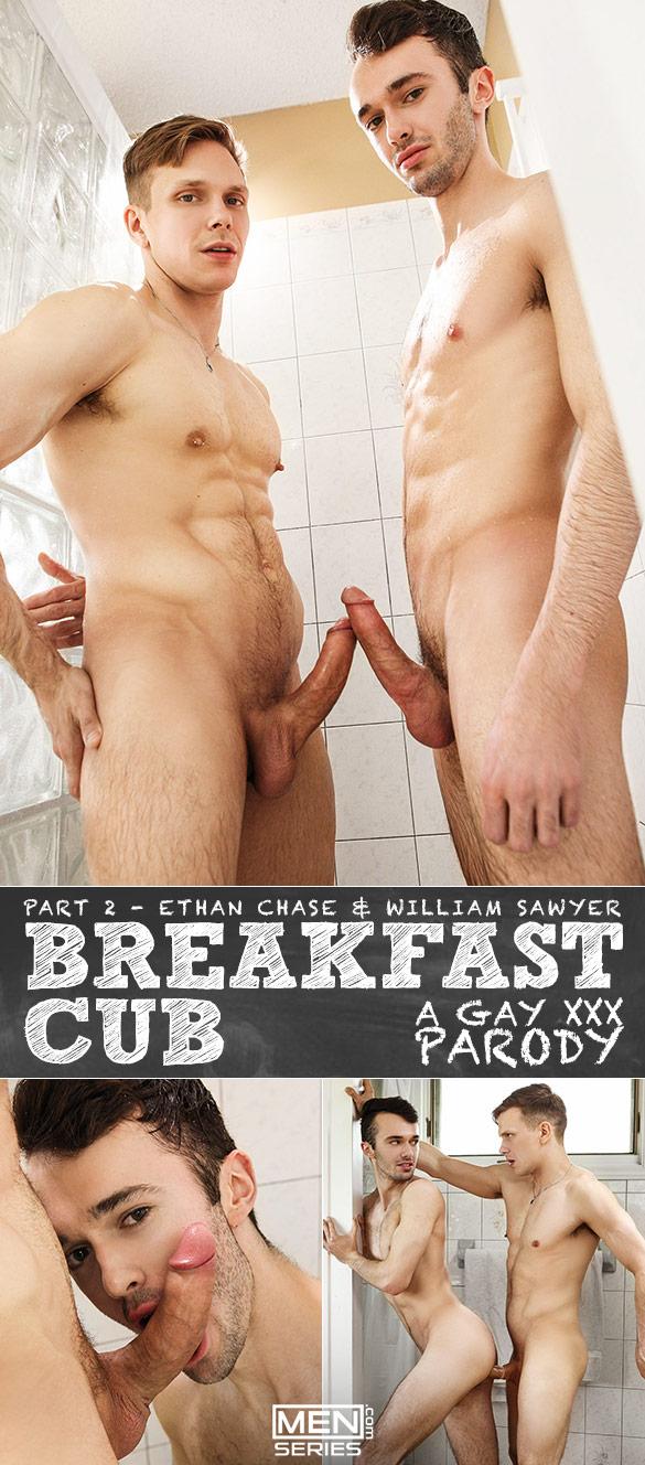 """Men.com: Ethan Chase fucks William Sawyer in """"Breakfast Cub: A Gay XXX Parody, Part 2"""""""