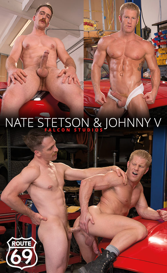 "Falcon Studios: Nate Stetson tops Johnny V in ""Route 69"""