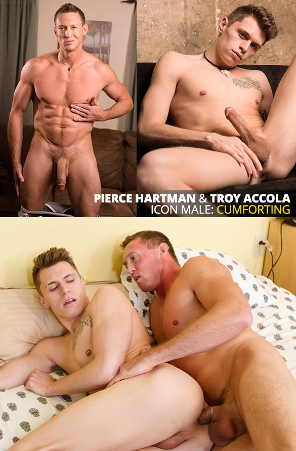 """IconMale: Big-dicked muscle stud Pierce Hartman tops Troy Accola in """"Age of Innocence"""""""