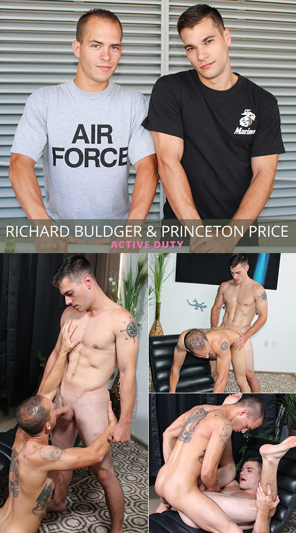 ActiveDuty: Princeton Price and Richard Buldger flip fuck raw