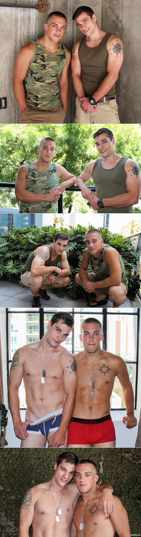ActiveDuty: Princeton Price and Scotty Dickenson bang each other bareback