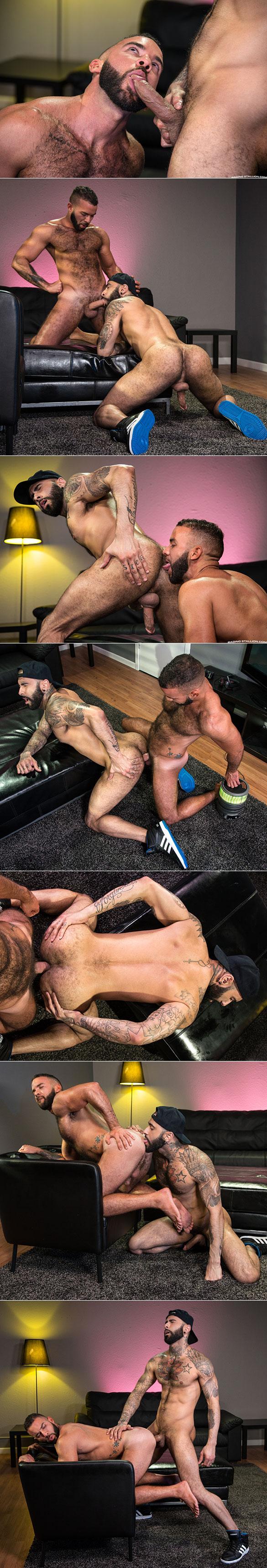 "Raging Stallion: Rikk York and Fernando Del Rio flip fuck in ""Gaymers"""