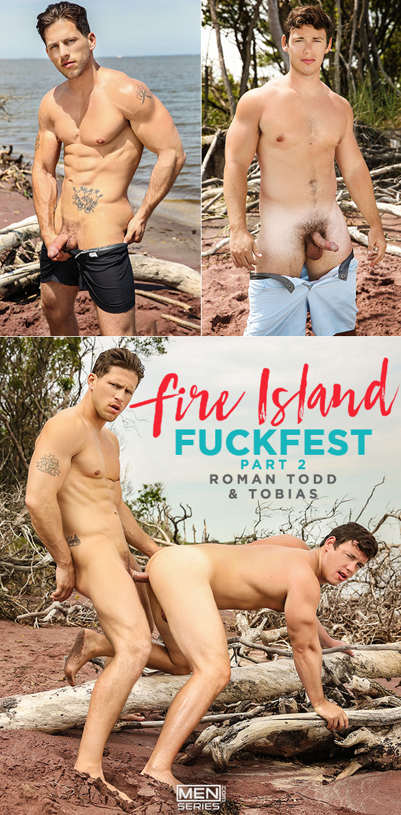 "Men.com: Roman Tood fucks Tobias in ""Fire Island Fuckfest, Part 2"""