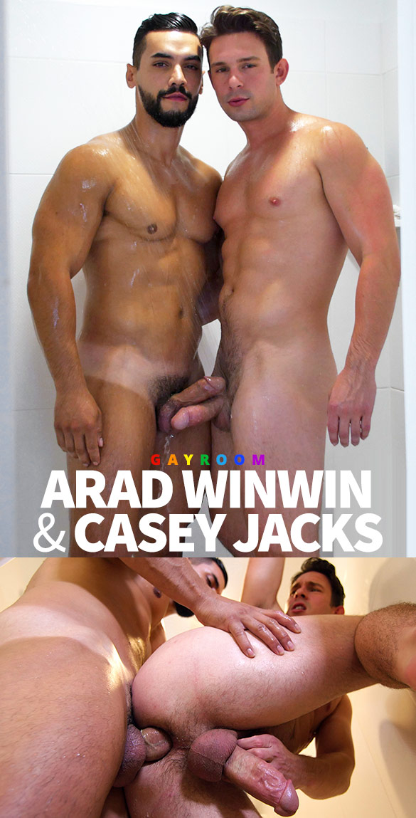 "GayRoom: Arad Winwin bangs Casey Jacks in ""Wet Muscle Crave"""