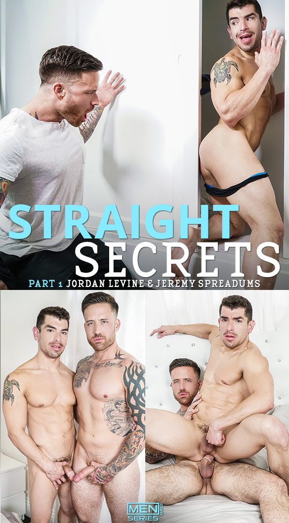 "Men.com: Jordan Levine fucks Jeremy Spreadums in ""Straight Secrets, Part 1"""