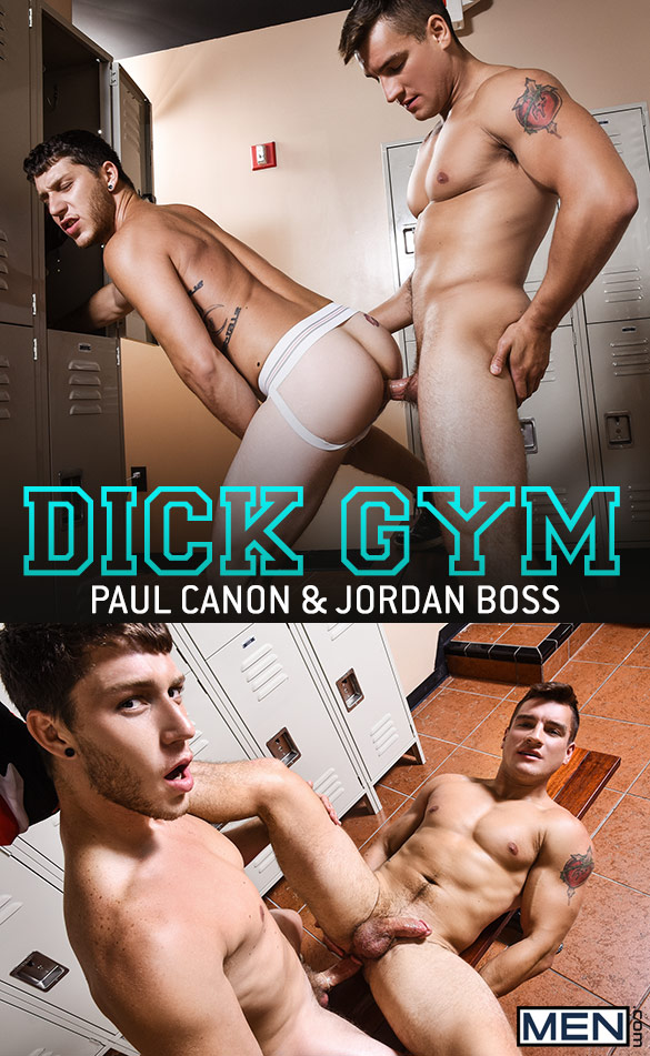 "Men.com: Jordan Boss and Paul Canon flip fuck in ""Dick Gym"""
