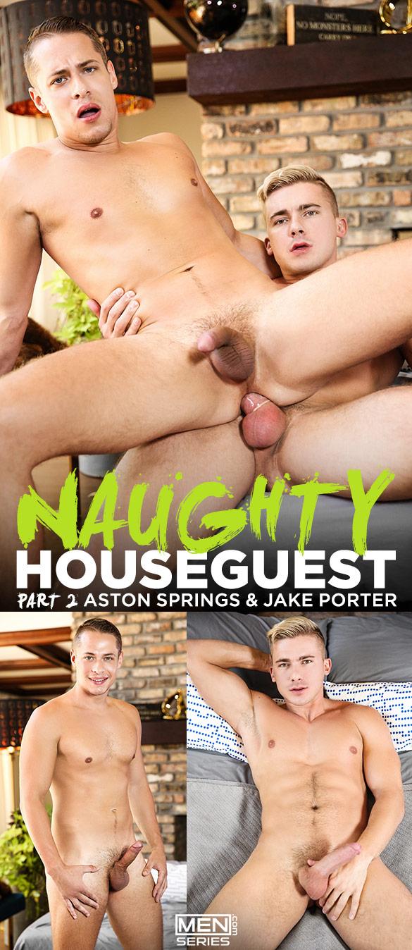 """Men.com: Jake Porter fucks Aston Springs in """"Naughty Houseguest, Part 2"""""""