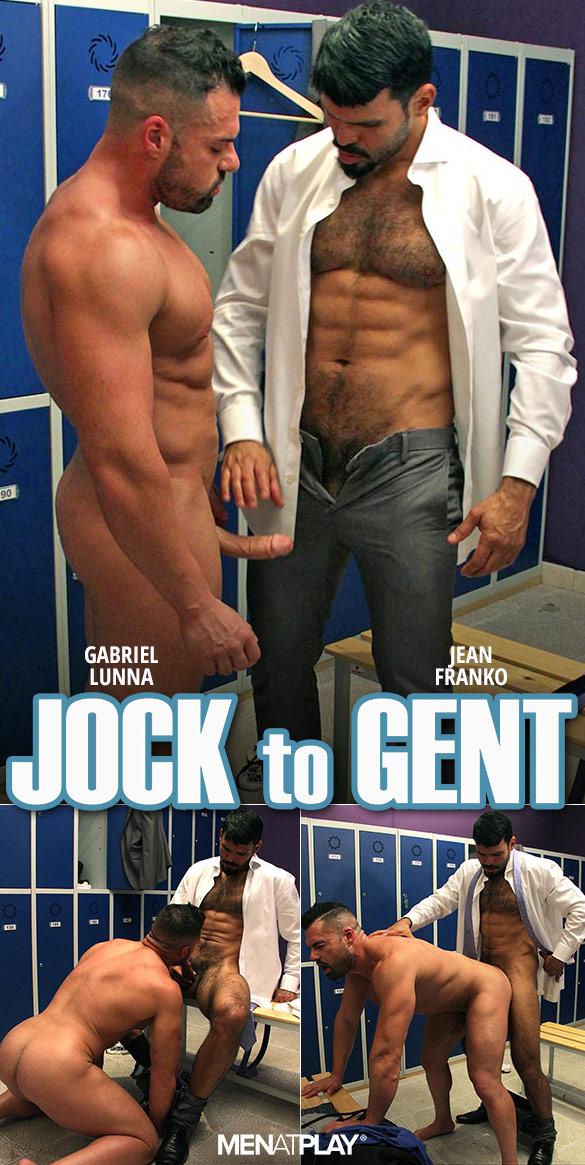 """MenAtPlay: Jean Franko fucks Gabriel Lunna in """"Jock to Gent"""""""