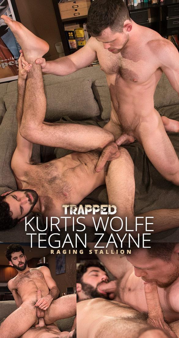 """Raging Stallion: Kurtis Wolfe bangs Tegan Zayne in """"Trapped"""""""