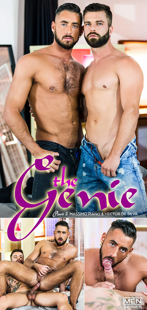 "Men.com: Hector de Silva fucks Massimo Piano in ""The Genie, Part 2"""