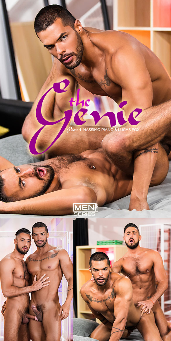"Men.com: Massimo Piano and Lucas Fox fuck each other in ""The Genie, Part 1"""