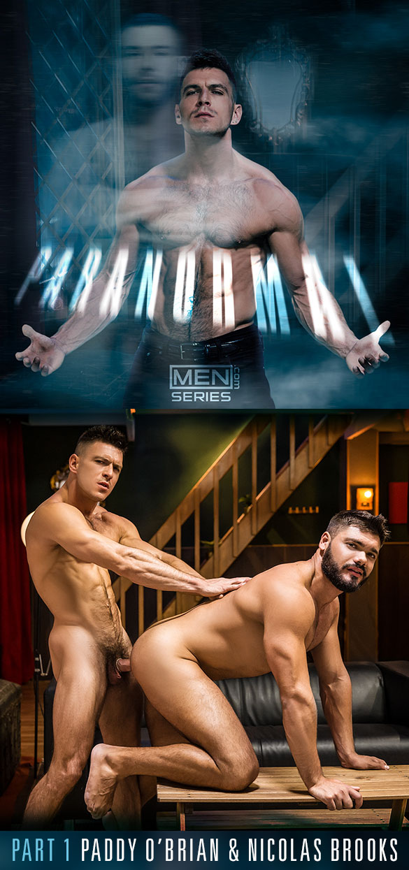"Men.com: Paddy O'Brian bangs Nicolas Brooks in ""Paranormal, Part 1"""