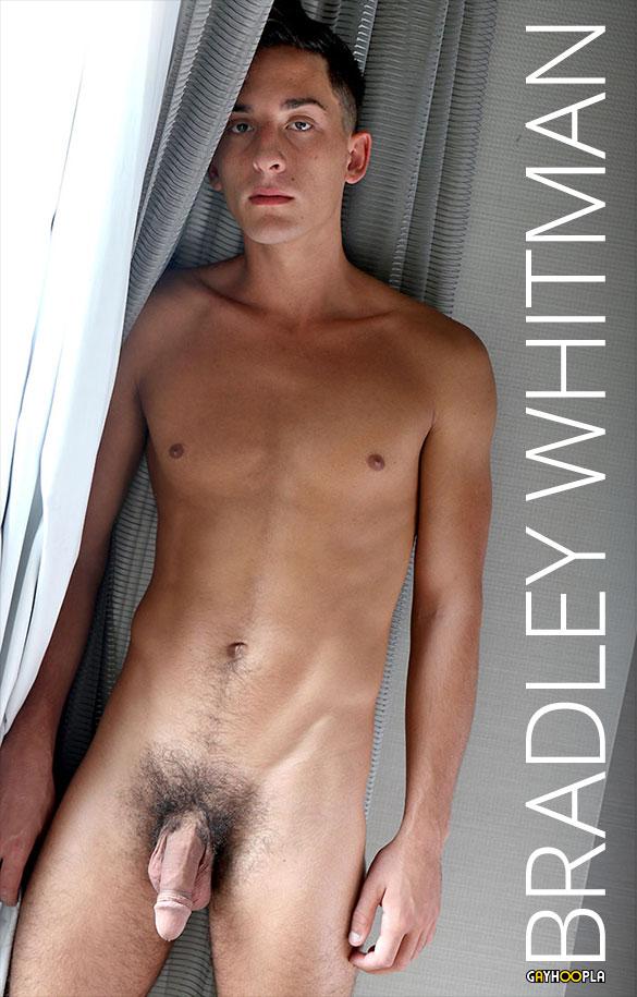GayHoopla: Bradley Whitman jerks his big cock