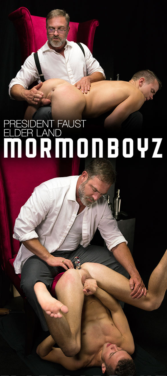 "MormonBoyz: President Faust dominates Elder Land's ass in ""Disciplinary Action"""