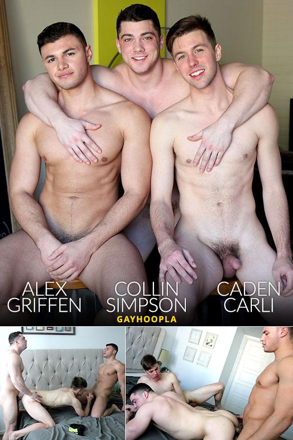 GayHoopla: Collin Simpson, Alex Griffen and Caden Carli fuck each other