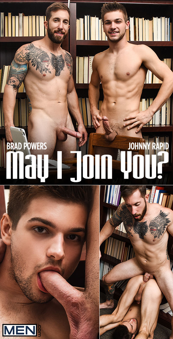 "Men.com: Brad Powers fucks Johnny Rapid in ""May I Join You?"""