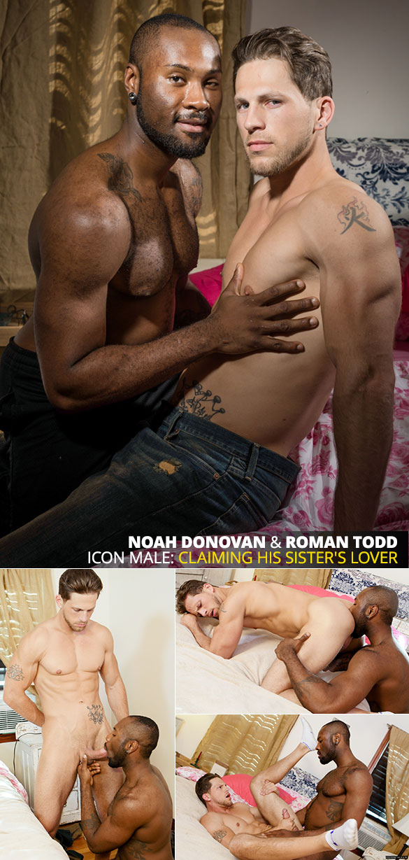 "IconMale: Roman Todd bottoms for big-dicked Noah Donovan in ""His Sister's Lover"""