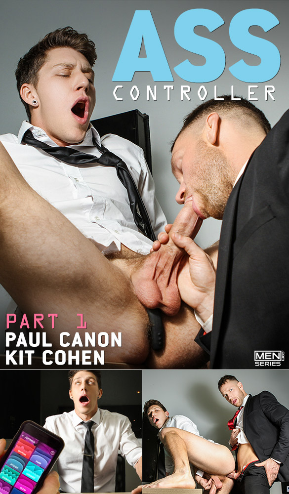 "Men.com: Kit Cohen fucks Paul Canon in ""Ass Controller, Part 1"""