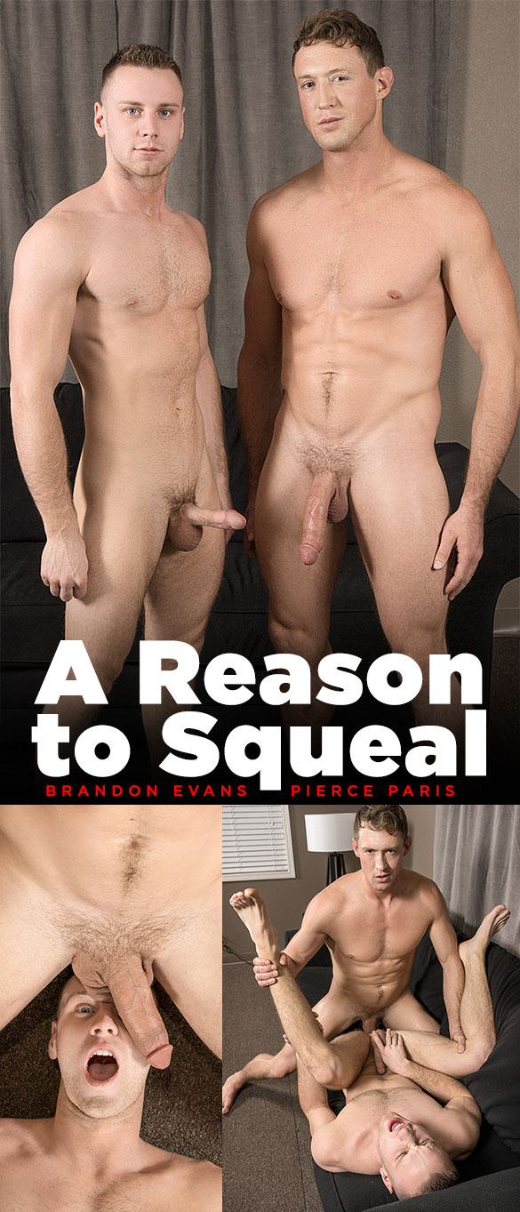 """Bromo: Big-dicked Pierce Paris pounds Brandon Evans raw in """"A Reason to Squeal"""""""