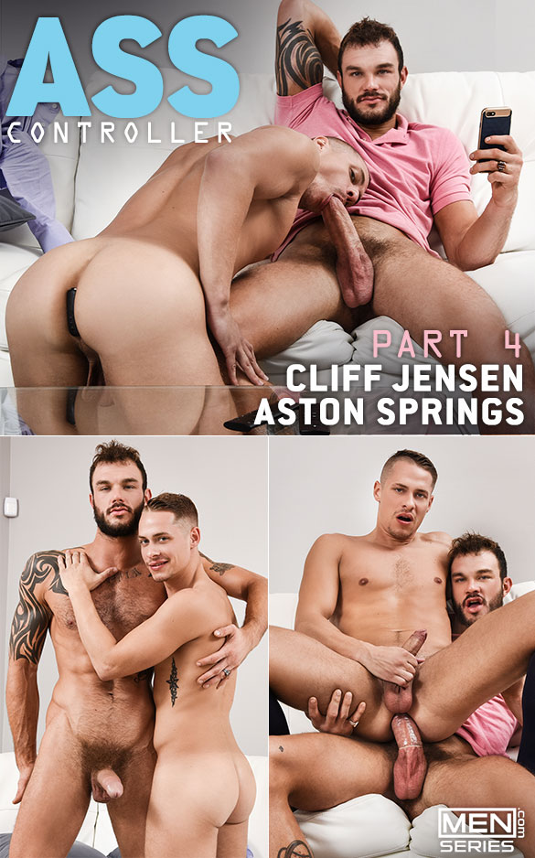 "Men.com: Cliff Jensen fucks Aston Springs in ""Ass Controller, Part 4"""
